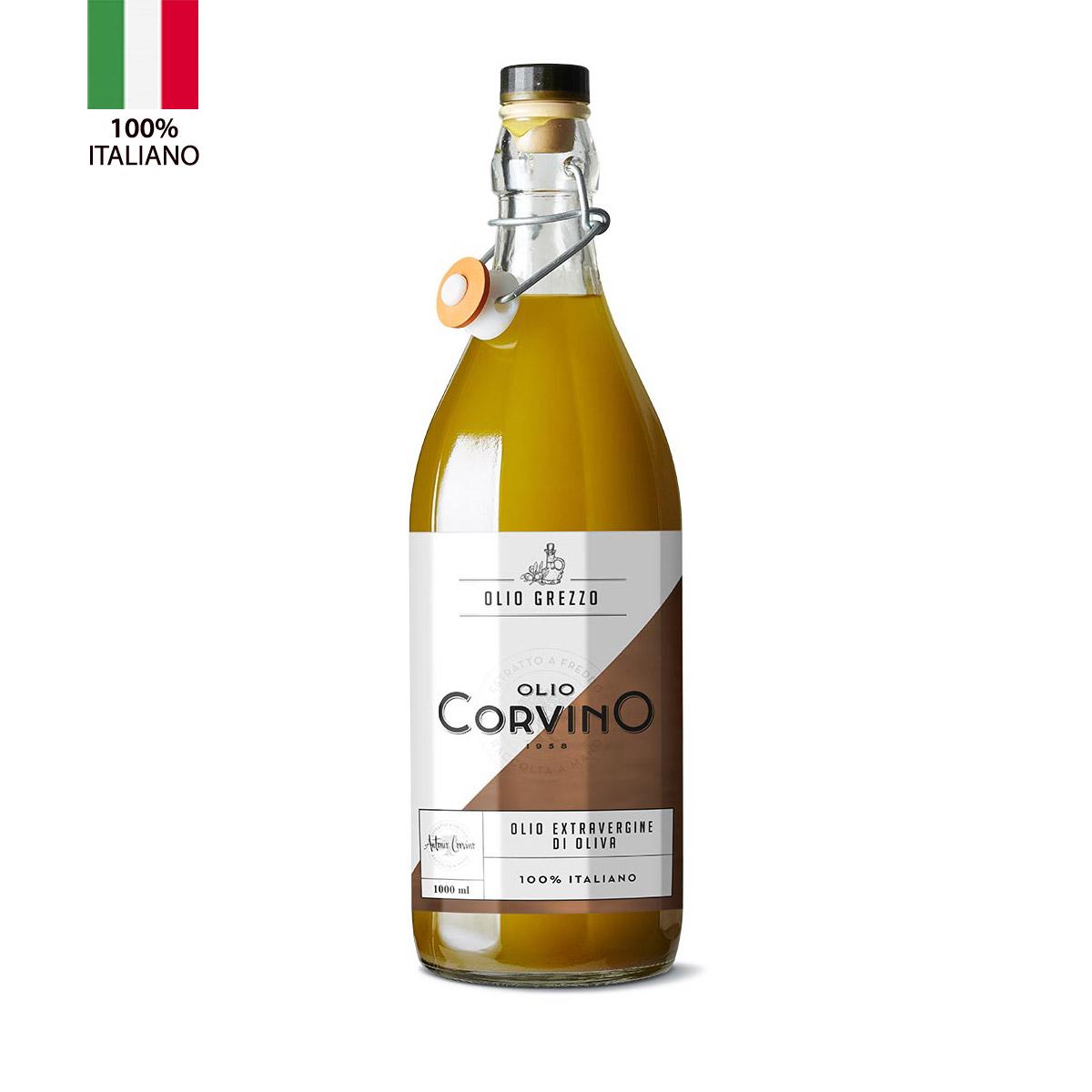 Olio Extravergine D'Oliva  Grezzo bottiglia 1 litro