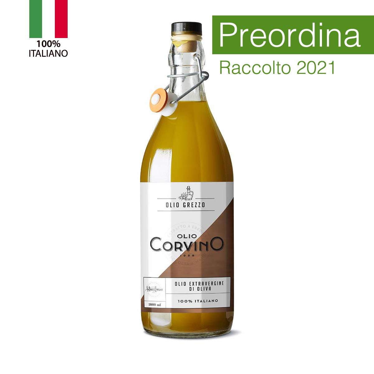 n.6 bottiglie Olio Evo Grezzo 1 lt (PREORDINA e ricevi il nostro 'olio novello' appena sarà disponibile)