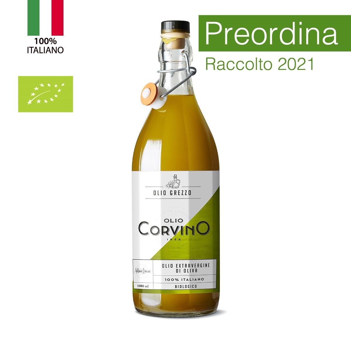 n.6 bottiglie Olio Evo Grezzo Biologico 1 lt (PREORDINA e ricevi il nostro 'olio novello bio' appena sarà disponibile)