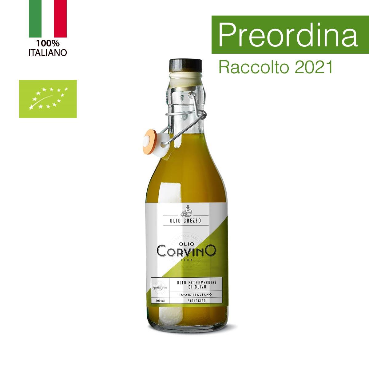 n.6 bottiglie Olio Evo Grezzo Biologico 0,50 lt (PREORDINA e ricevi il nostro 'olio novello bio' appena sarà disponibile)