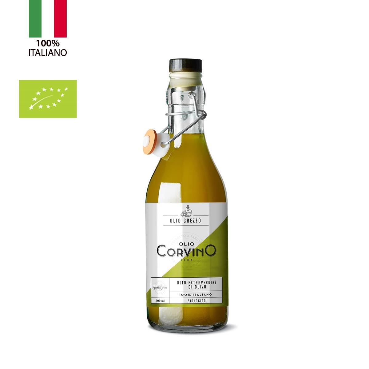 n.6 bottiglie Olio Grezzo Biologico 500ml