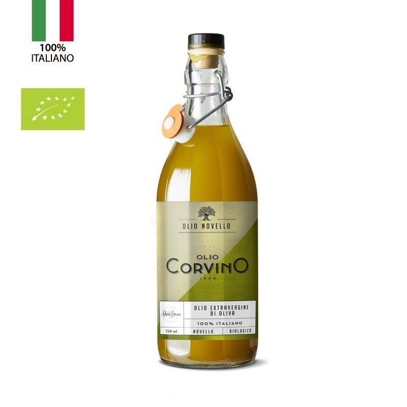 Olio Extravergine D'Oliva Novello Biologico Italiano 0,75 litri