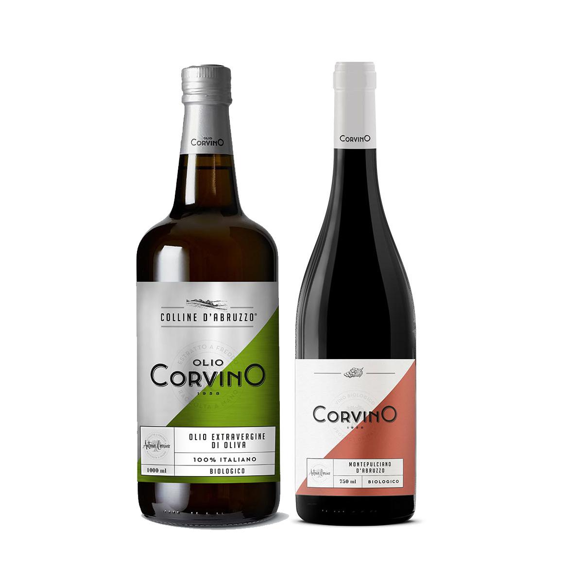 n.5 bottiglie Colline d'Abruzzo Biologico 1L + Omaggio n.1 Bottiglia di Vino Montepulciano d'Abruzzo Bio