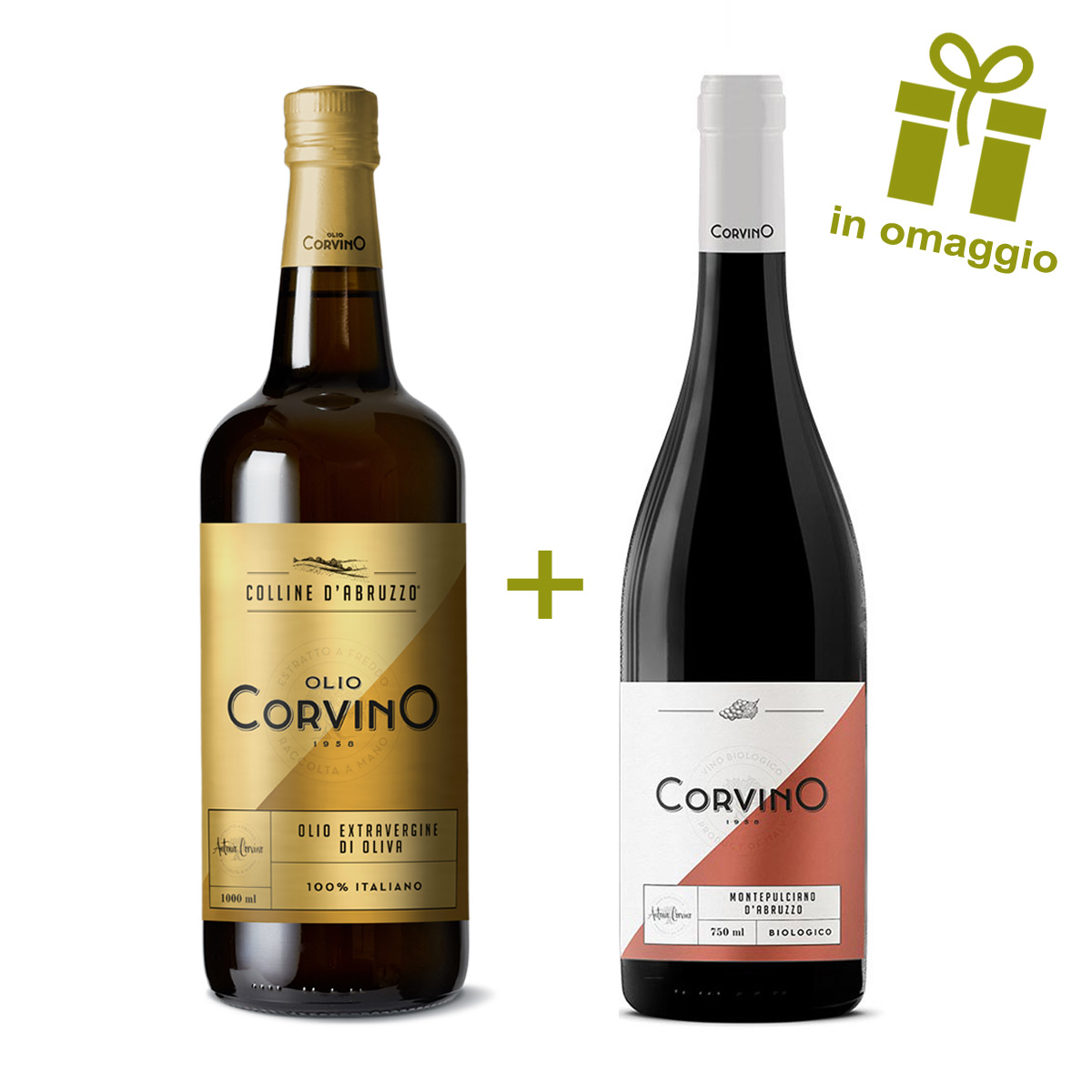 n.5 bottiglie Colline d'Abruzzo 1L + Omaggio n.1 Bottiglia di Vino Rosso Montepulciano d'Abruzzo Bio