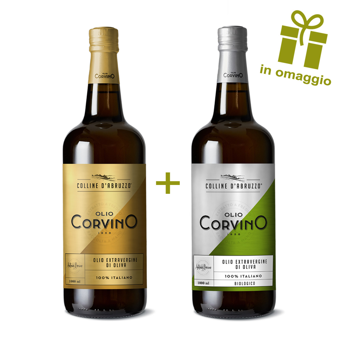n.5 bottiglie Colline d'Abruzzo 1L + OMAGGIO n.1 bottiglia Colline d'Abruzzo Biologico 1L