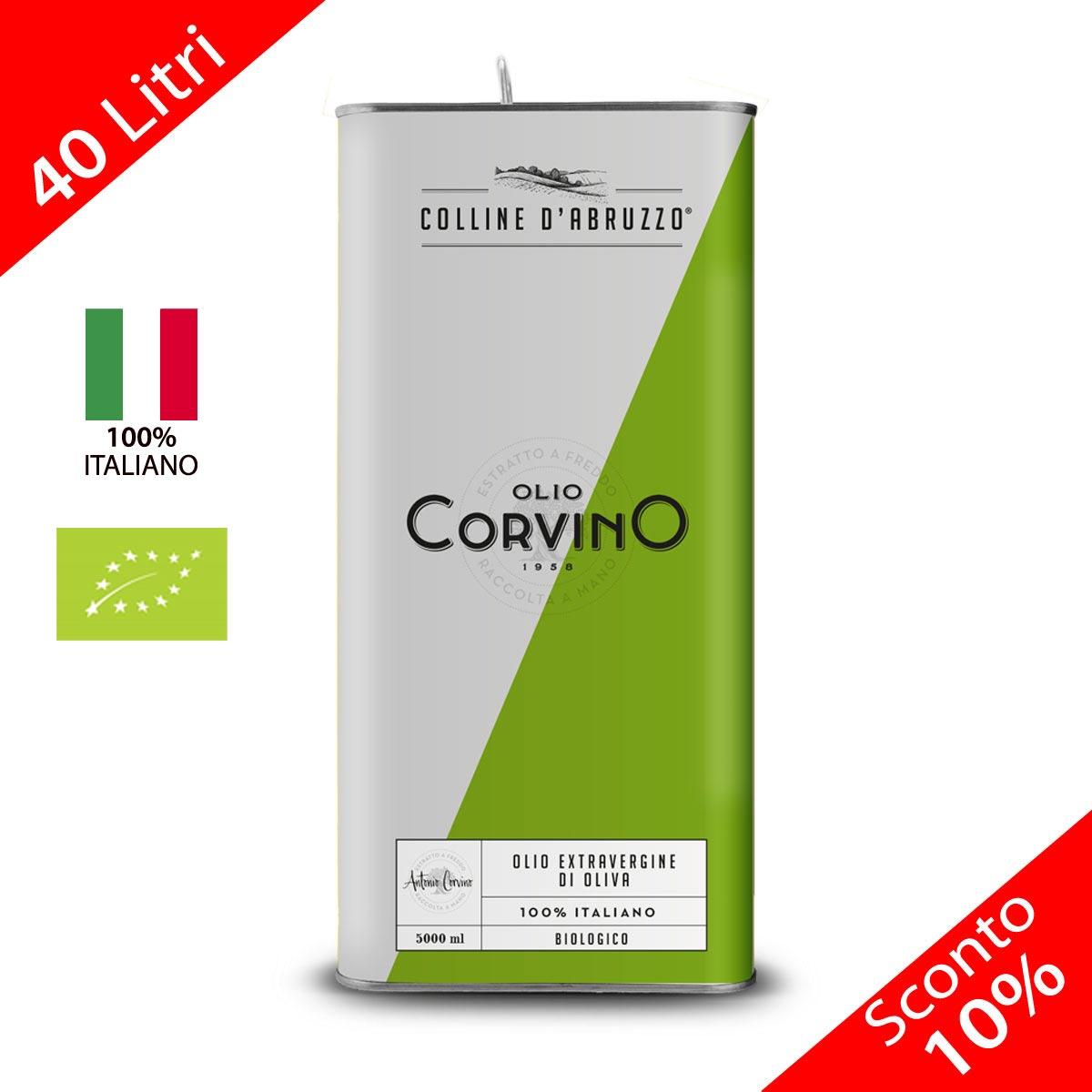 Olio Extravergine D'Oliva Colline D'Abruzzo Biologico Italiano Lattina 5 litri